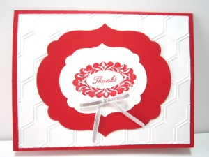 stampin' up! honeycomb embossing folder