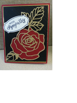 rose garden thinlit stampin' up!