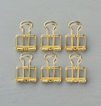 gold binder clips