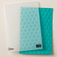 hexagons embossing folder