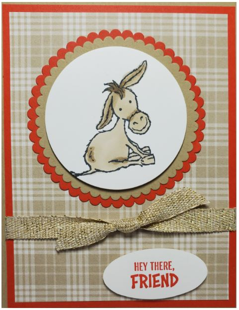 sneek peek darling donkeys stampin' up!